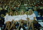 1985 Vikings half-time show:  Laura, Betsy, Jennifer and Amy